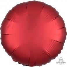 Red Satin Luxe Sangria Standard HX Foil Balloon