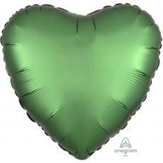 Green Satin Luxe Emerald Standard HX Shaped Balloon