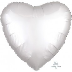 White Satin Luxe Standard HX Shaped Balloon