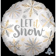 Christmas Standard Satin XL Shining Snowflakes Foil Balloon