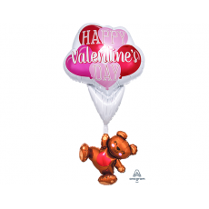 Valentine's Day Multi-Balloon Giant Floating Bear Shaped Balloon
