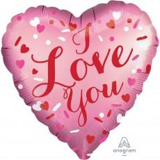 Heart Standard XL Satin I Love You Shaped Balloon 45cm
