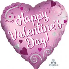 Valentine's Day Standard Satin Simple Swirls Shaped Balloon