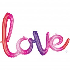 Love CI: Phrase Ombre Shaped Balloon 78cm x 53cm