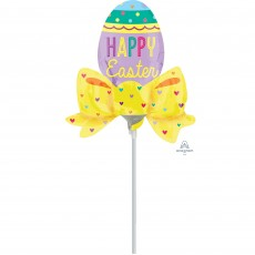 Easter Mini  Egg with Bow Shaped Balloon