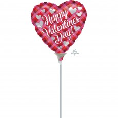 Valentine's Day Plaid Shaped Balloon