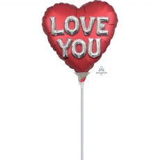 Love Satin Letters Shaped Balloon