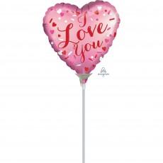 Heart Satin I Love You Shaped Balloon 22cm