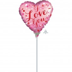 Love Satin Shaped Balloon