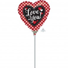 Heart Heart to Heart I Love You! Shaped Balloon 10cm