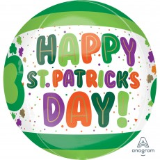 St Patrick's day Dots & Shamrocks Shaped Balloon