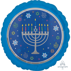 Hanukkah Standard HX Eight Happy Nights Foil Balloon