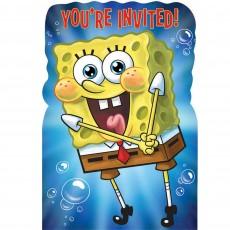 SpongeBob Postcard Invitations