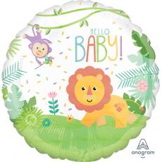 Round Fisher Price Hello Baby Standard HX Foil Balloon 45cm