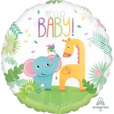 Round Fisher Price Hello Baby Jumbo HX Shaped Balloon 71cm