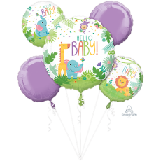 Fisher Price Hello Baby Bouquet Foil Balloons Pack of 5