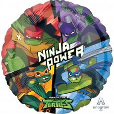 Round Rise of the Teenage Mutant Ninja Turtles Standard HX Raphael Foil Balloon 45cm