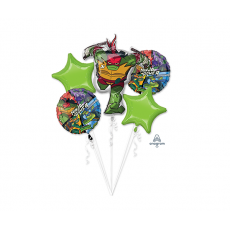 Rise of the Teenage Mutant Ninja Turtles Bouquet Foil Balloons Pack of 5