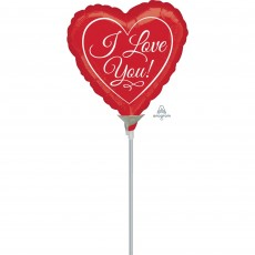Heart Traditional Script I Love You! Shaped Balloon 10cm