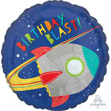 Blast Off Rocket Standard HX Foil Balloon