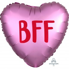 Heart Misc Occasion Standard XL Satin Infused BFF Shaped Balloon 45cm