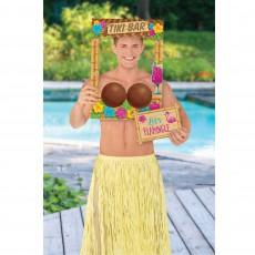 Hawaiian Summer Luau Coconut Bra Photo Prop