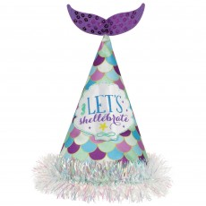 Mermaid Wishes Deluxe Shaped Glittered Hat Party Hat