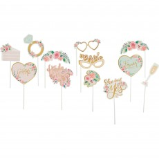 Bridal Shower Mint To Be Photo Props 25cm x 25cm Pack of 13