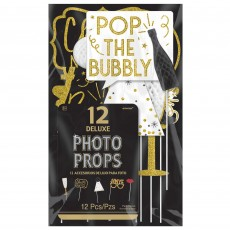 New Year Pop the Bubbly Honeycomb Photo Props Pack of 12