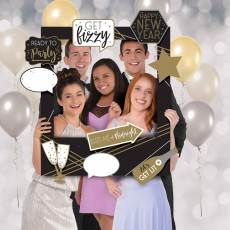 New Year Giant Customizable Picture Frame Kit Photo Props Pack of 15