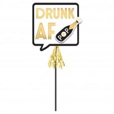 New Year Deluxe Drunk AF Pop Photo Prop 40cm