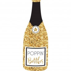 New Year Bubbly Jumbo Bottle Glittered Photo Prop