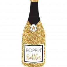 New Year Jumbo Bubbly Bottle Poppin' Bottles Photo Prop 80cm x 28cm