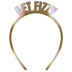 New Year Party Supplies - Headband Gold Get Fizzy