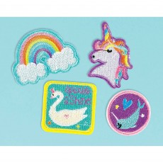 Magical Rainbow Party Supplies - Favours Embroidered Iron-On Patches
