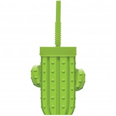 Mexican Fiesta Cactus Shaped Sippy Plastic Cup
