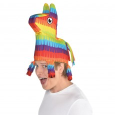 Mexican Fiesta Donkey Pinata Hat Head Accessorie