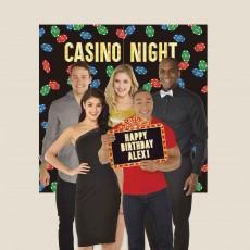 Casino Night Roll The Dice Backdrop Kit Scene Setter