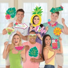 Hawaiian Luau Aloha Jumbo Photo Props