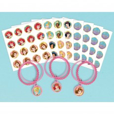 Disney Princess Once Upon A Time Bracelets Favours 7cm Pack of 8