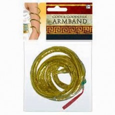 Gods & Goddesses Gold Snake Armband Costume Accessorie