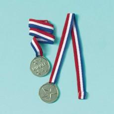 Soccer Goal Getter Plastic Medal Awards 36cm Pack of 8