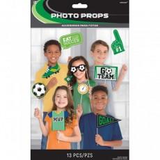 Soccer Goal Getter Photo Props Pack of 13