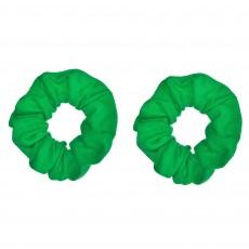 Green Hair Scrunchies Head Accessories