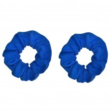 Blue Hair Scrunchies Head Accessories