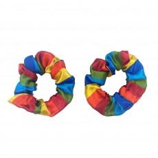 Rainbow Hair Scrunchies Head Accessories