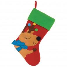 Christmas Reindeer Felt Stocking Misc Decoration