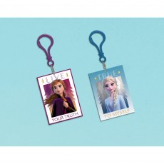 Frozen Party Decorations - 2 Keychains Favours 7cm x 5cm Pack of 8
