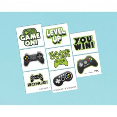 Level Up Gaming Tattoos Favours