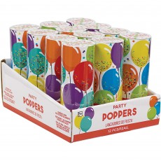 Happy Birthday Party Supplies - Celebration Confetti Party Poppers